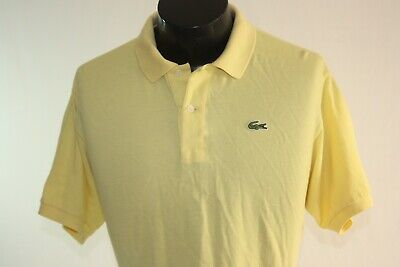 Izod Lacoste Polo Shirt Mens Large Yellow Short Sleeve Vintage Classic