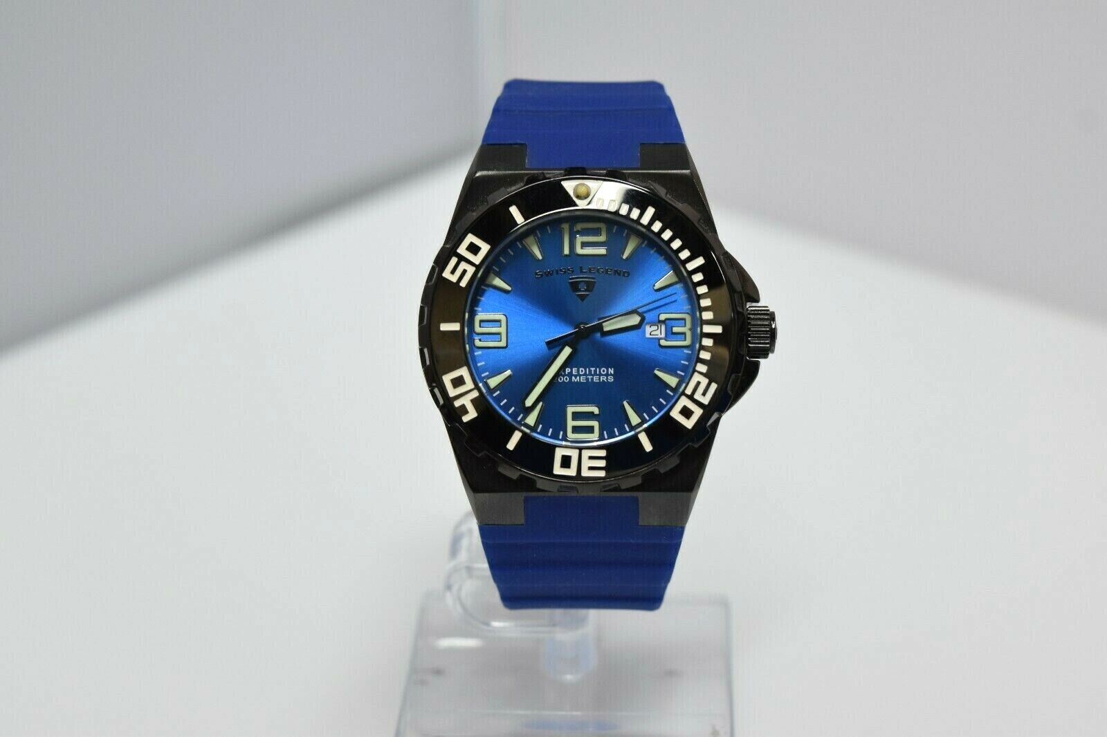 Swiss Legend Expedition Sapphitek 48mm 200M SL-10008 Watch Blue/Black