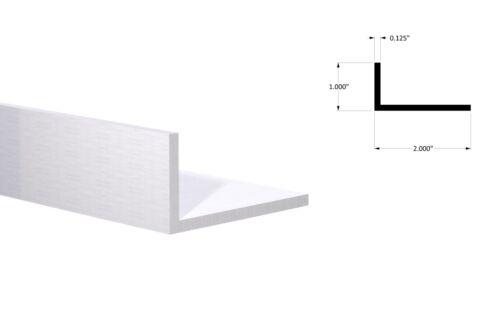 """Aluminum Angle: 1"""" x 2"""" x 1/8""""Wall (4 Foot Length) Mill Finish"""