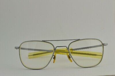 1980S American Optical Corporation Aviator Sunglasses Matte Chrome Frame 5 (Corporate Sunglasses)