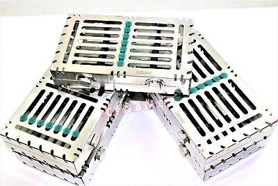 5 German Dental Autoclave Sterilization Cassette Rack Box Tray For 7 Instrument