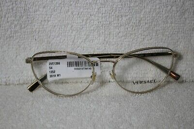 Versace VE 1266 Pale Gold 1252 Eyeglasses 54-17-140 FRAMES