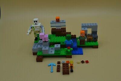 2016 LEGO Minecraft 21123 The Iron Golem Minifigure-Scale Set Complete w/Figs