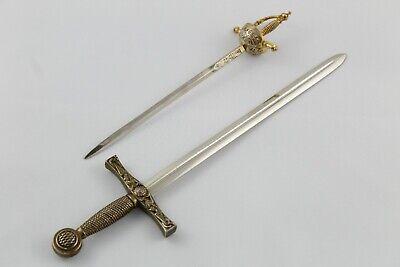 Set de 2 ABRECARTAS con forma de Espada y Florete. VINTAGE Años...