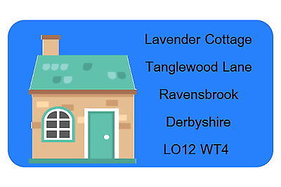 40 PERSONALISED GLOSS CHANGE OF ADDRESS LABELS,TOWN HOUSE](change of address labels)