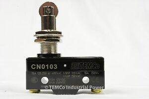 TEMCo HEAVY DUTY 15A Micro Limit Switch Roller Plunger SPDT Snap Action home