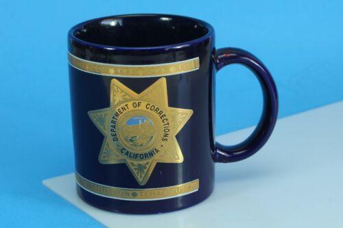 22K Gold Department Of Corrections California Coffee Mug. (Repaired Handle)