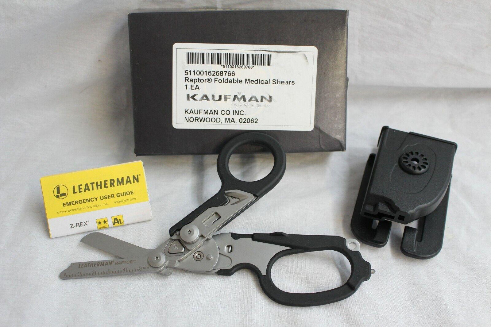 LEATHERMAN RAPTOR FOLDABLE MEDICAL SHEARS W/ HOLSTER - NEW I