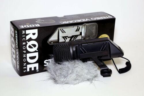 Rode Stereo VideoMic On-Camera DSLR Microphone w/ Original Windmuff - Mint