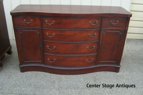 60828 Antique Mahogany Buffet Sideboard Server Cabinet