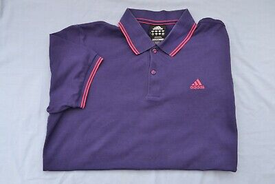 Mens Adidas Clima 365 Purple Cotton Polo Shirt UK Size Medium