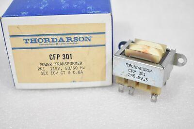 Thordarson Cfp301 Power Transformer Pri 115v 5060hz Sec 10v Ct 0.6 A