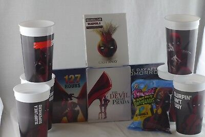 Deadpool Merchandise Lot Cups Movie Candy Castaway 127 Hours + More](Deadpool Merchandise)