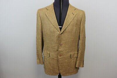 Isaia Napoli Mens €3000 Luxury Sport Jacket Blazer Silk Linen Wool Blend 50 M