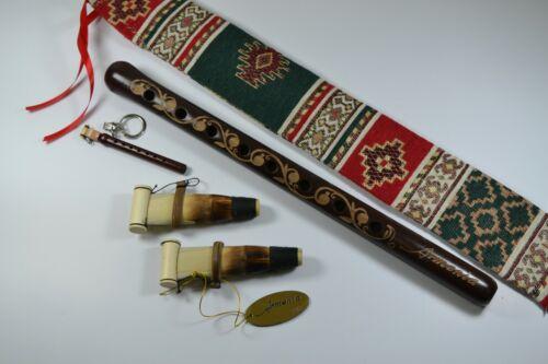 Armenian DUDUK with beautiful ornament case + reed