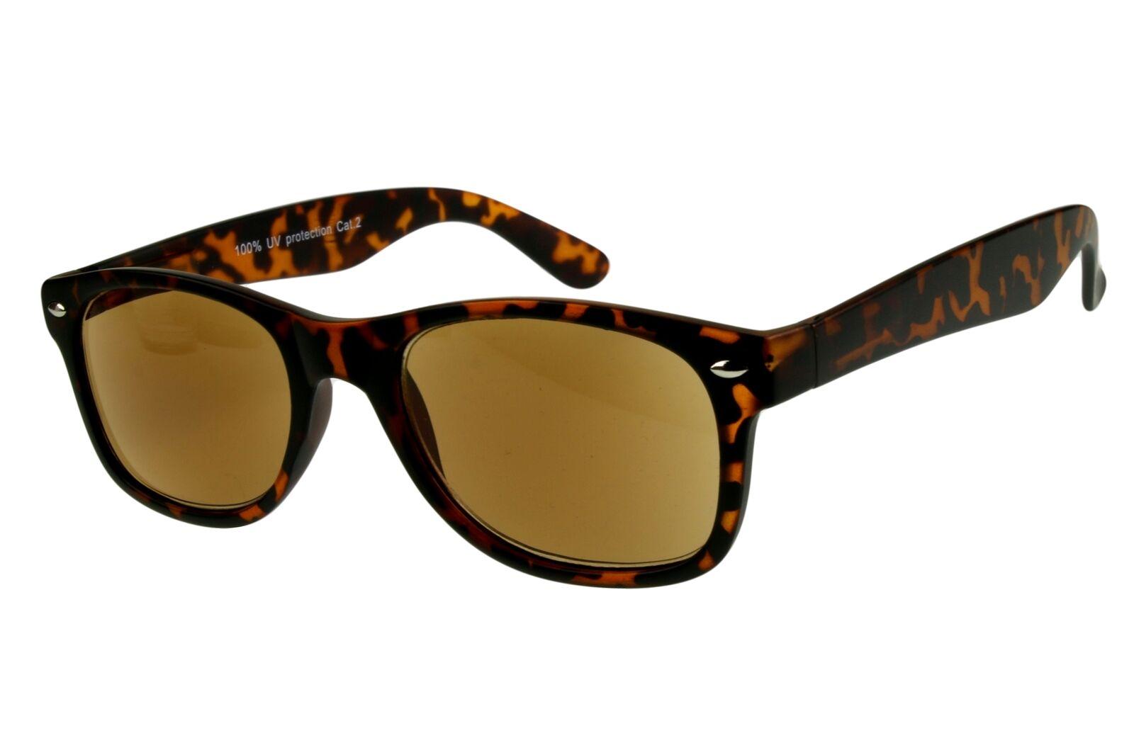 Lesesonnenbrillen alle Dioptrien für Damen Herren hellbraun dunkelbraun schwarz