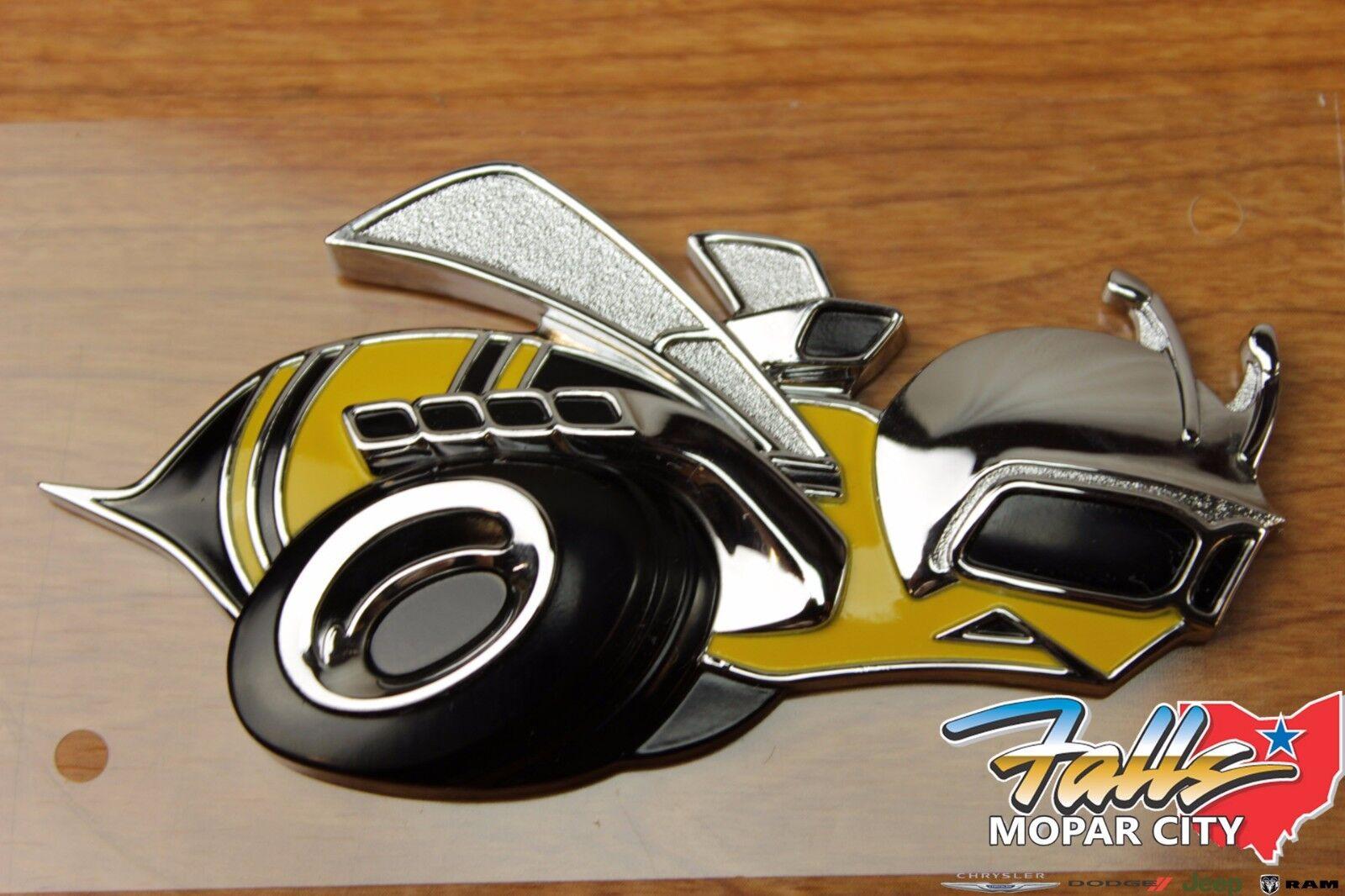 Metal Super Bee Left Fender Driver Grille Emblem Badge For Scat Pack Dodge SRT