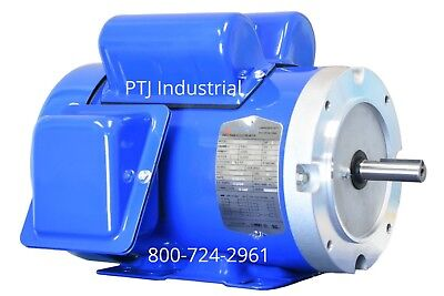 12 Hp Electric Motor 5656c Single 1 Phase Tefc 115230 Volt 1800 F56c12s4c