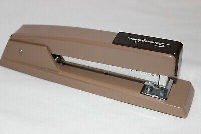 Vintage Heavy 8 Swingline 747 Brown Enamel Stapler 94-41 Made In U.s.a.