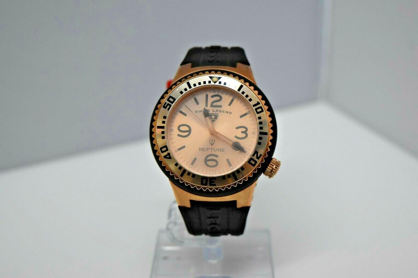 Swiss Legend Swiss Sapphitek 48mm SL-21848P Watch Black/RG/RG