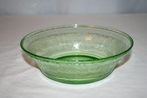Green Depression Hazel-Atlas Glass Florentine #2 Serving Bowl