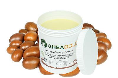 Kalt Gepresste Shea Butter (625ml pure kaltgepresste Sheabutter, wild&organic, unraffiniert Premium Qualität)