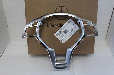 Genuine Mercedes-Benz Steering Wheel AMG Logo Chrome Silver Trim A0994642313 NEW