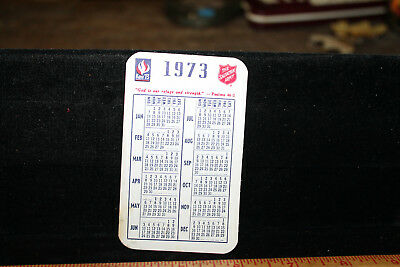 1973 Salvation Army Pocket Calendar Key 73