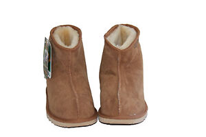 Australian-Made-Sheepskin-Mini-Ankle-UGG-Boots-Men-and-Lady-Chestnut-Colour