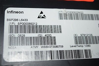 Infineon Bsp296-l6433 Sot-223 Mosfet N-ch 100v 1.1a Transistor New Quantity-100