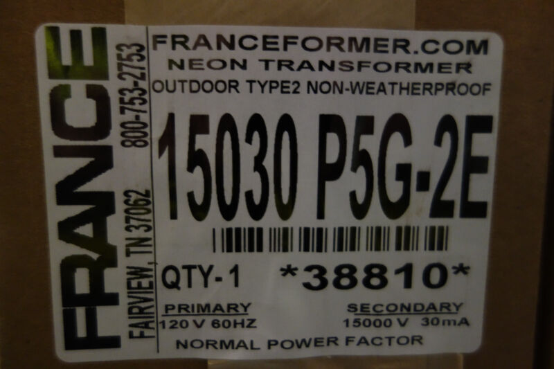 FRANCE electric Sign Repair Parts 15030 P5G-2E OUTDOOR TYPE 2  Neon Transformer
