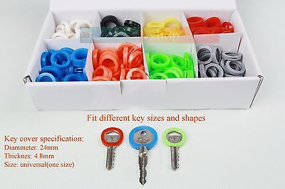 32 Bright Colors Hollow Silicone Key Cap Covers Topper Keyring With Bly Braille