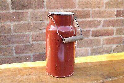 Vintage Red Enamel Churn, Decorative, Display, Vase #6