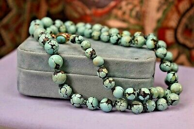 Natural Color Jade Beads Hand Tied with Silk and Barrel Clasp 24 Inches Long 46 11mm Beads