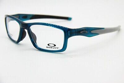 NEW OAKLEY OX8090-0553 BLUE CROSSLINK AUTHENTIC RX EYEGLASSES W/CASE 53-17