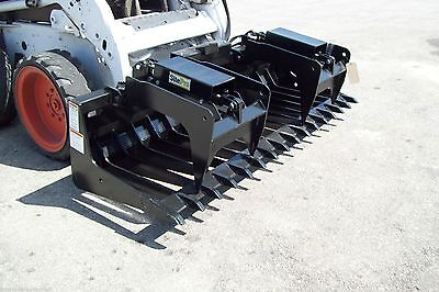 Skid Steer Root Grapple Hd 84 Wide Tines Spaced 5 12 Protected Cylinders