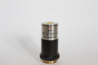Carl Zeiss Jena Microscope Objective Planachromat Hi 100 1.30 Polarising Pol
