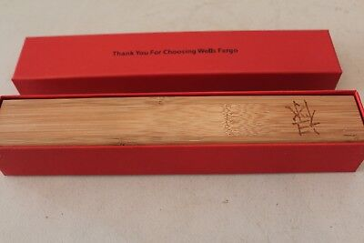 Wells Fargo Promotional Wooden Box with Chop Sticks L#1573