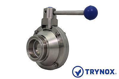 1 Sanitary Ball Valve Clamp Ends 304 Stainless Steel Trynox