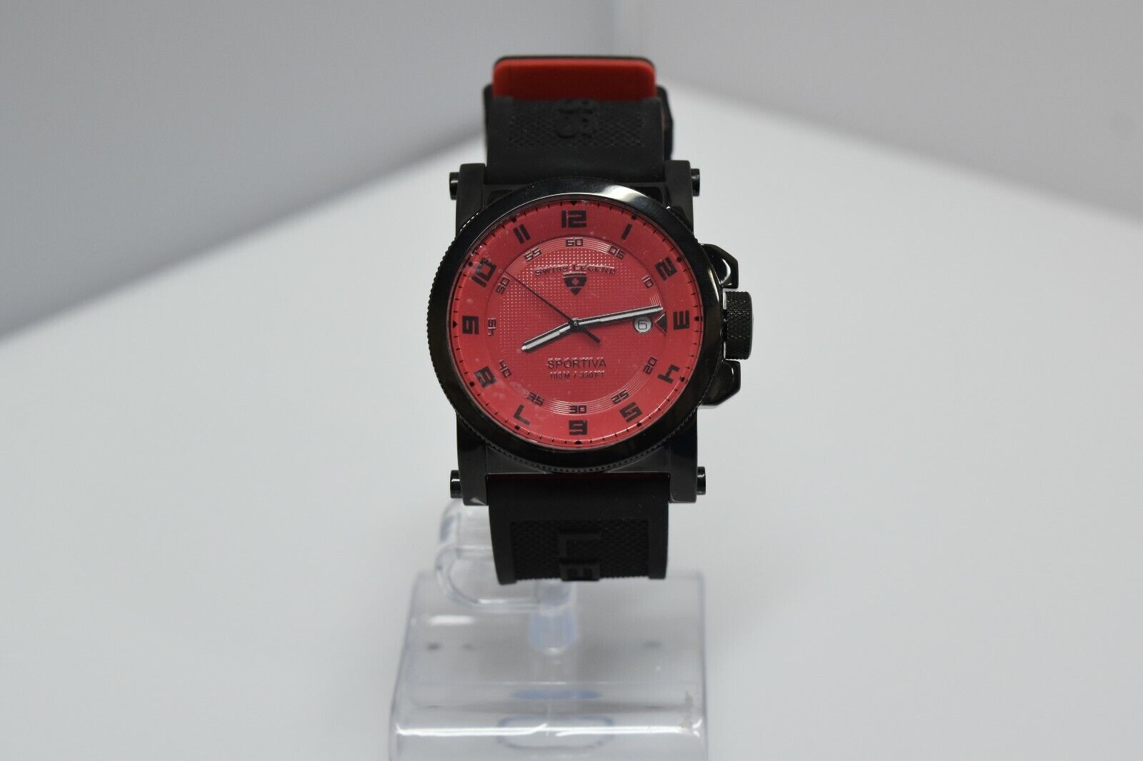 Swiss Legend Sportiva 45mm SL-40030 Watch Black/Black/Red