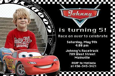 Cars, Lightning McQueen, Birthday Party Invitation - Cars Party Invitations