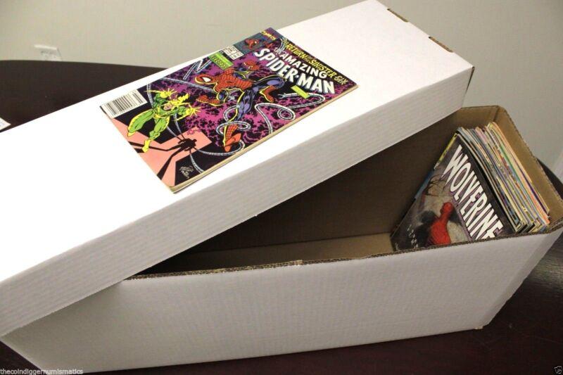 1 BCW Long Cardboard Comic Book Custom Storage Box Holds 250-300 Comics Holder