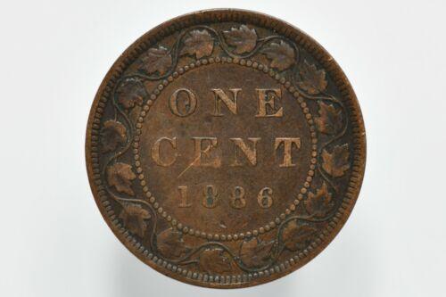 1886 Canadian Bronze Large Cent KM# 7