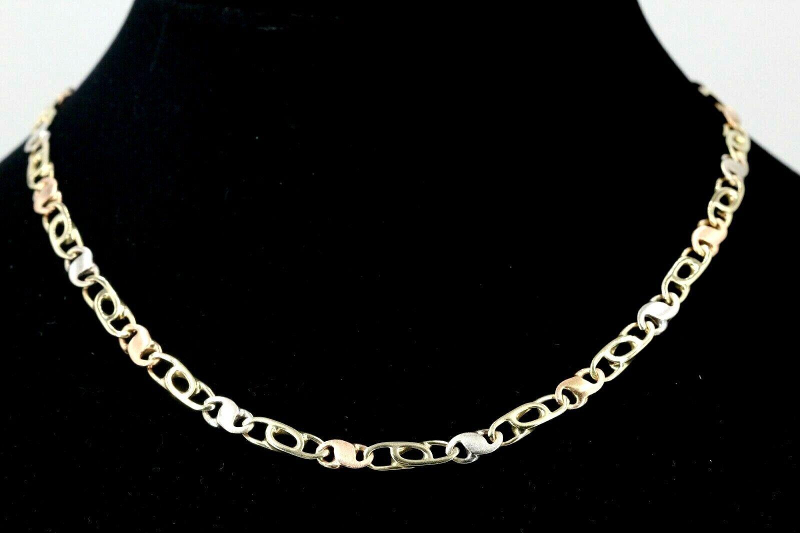 Goldkette 585 Tricolor 14K Länge 42cm Breite 5,0mm Gewicht 21,88g