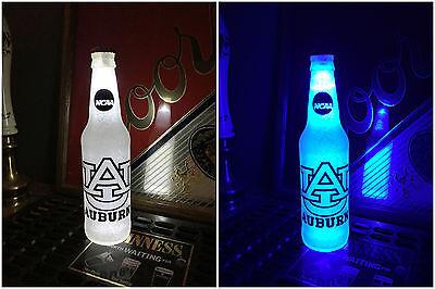 NCAA Auburn Tigers Football 12 oz Beer Bottle Light LED Neon March Madness Auburn Tigers Led