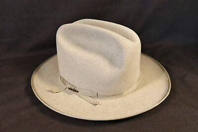 1950s Mens Hats | 50s Vintage Men's Hats Vtg 1950s STETSON OPEN ROAD Fedora & Box SZ 7 Long Oval western hat 80s Ranch $199.95 AT vintagedancer.com