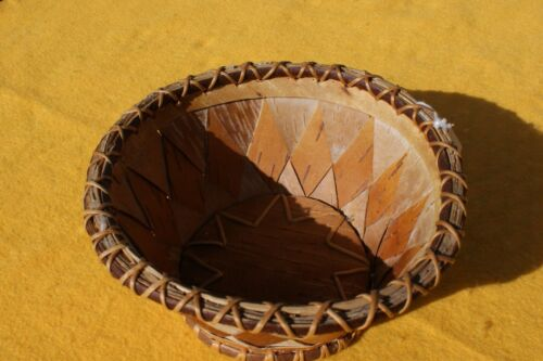 Beautiful Native American Southern Ojibway Basket 1920-1930 Excellent Condition