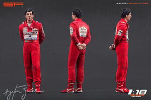 1/18 Ayrton Senna Mclaren figure VERY RARE !!! for 1:18 Autoart Minichamps