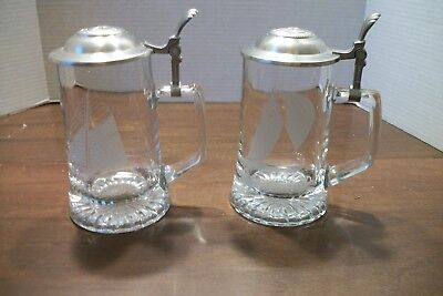 Vintage Old Spice Lidded Beer Stein/Glass By ALWE West Germany - Lot of 2 - Used, used for sale  New Albany