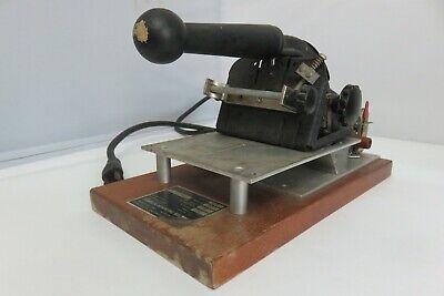 Franklin Hot Foil Stamp Imprinter Machine 115v - Tested